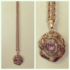 Vintage floral pendant