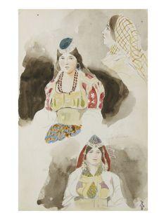 Album de voyage au Maroc, Espagne, Algérie reproduction procédé giclée par Eugene Delacroix sur AllPosters.fr