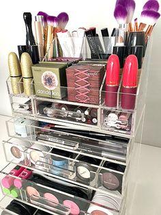 Acrylic Makeup Organizer Makeup Organizer 4 Drawer  #makeup #organize #beauty #ad