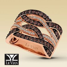 Strawberry gold and chocolate diamonds!!! Literally...be still my beating heart! its made for Valentines Day doncha think?