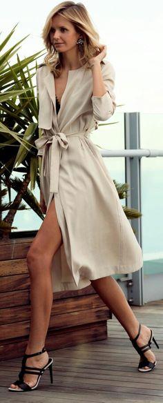 Mango Trench & Sandal heels - Tuula.