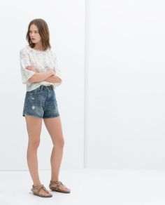 ZARA - TRAFALUC - MOM-FIT DENIM SHORTS: The name horrible but you gotta admit they're cute in a mom type of way.  I'd rock em'!