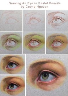 Pencil Portraits - Más - Discover The Secrets Of Drawing Realistic Pencil Portraits.Let Me Show You How You Too Can Draw Realistic Pencil Portraits With My Truly Step-by-Step Guide. Realistic Eye Drawing, Drawing Eyes, Pastel Drawing, Pastel Art, Pencil Drawing Tutorials, Art Tutorials, Painting Tutorials, Pastel Portraits, Pastel Pencils