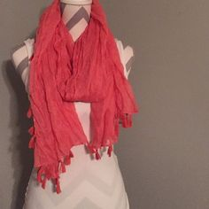 Peach Colored Scarf Dress it up or dress it down peach scarf. One size Accessories Scarves & Wraps
