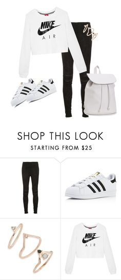 """nike"" by indiemess1 ❤ liked on Polyvore featuring Yves Saint Laurent, adidas, Topshop, NIKE and Aéropostale"