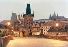 Prague. This is probably about 5am, the best time to be on the Charles Bridge. Love love this melancholy, literate, arty city.