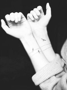 Birds on a wire..and wrist