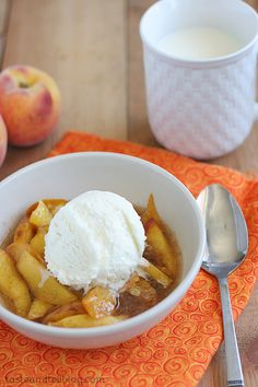 Cookbook of the Month Recipe - Scalloped Peaches - Taste and Tell