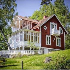This astounding Swedish home. Swedish Cottage, Red Cottage, Cozy Cottage, Sweden House, My Father's House, Red Houses, Scandinavian Home, Architecture, Beautiful Homes