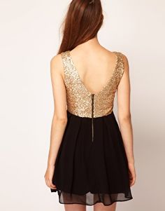 TFNC Babydoll Dress With Sequin Bodice  €59.71