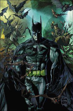 "#Batman #Fan #Art. (Batman The Court of Owls, Part One. ""Knife Trick"" Vol.2 #1 Variant Cover) By: Ethan Van Sciver. ÅWESOMENESS!!!™ ÅÅÅ+"