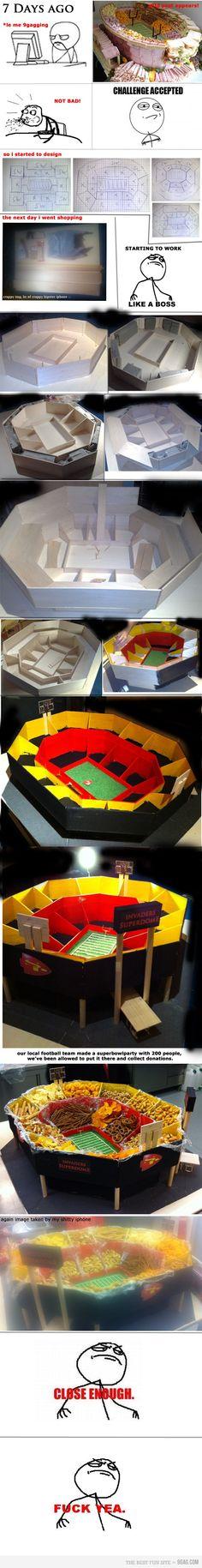 Neat idea if having a football party.