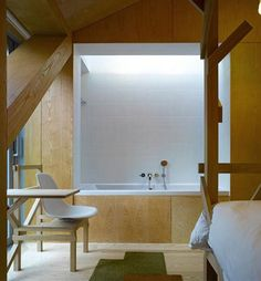 MVRDV Work In Unique Balanced Barn House   Bedroom And Bathroom