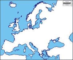 Europa: mappa gratuita, mappa muta gratuita, cartina muta gratuita : stati, nomi (bianco)