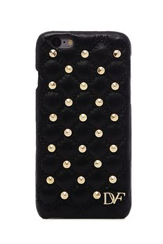 Say it loud with our studded leather iPhone 6 case. Makes a glamorous gift for the woman on the go. With Diane's mantra inside.