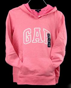 Gap Logo Hoodie Sweatshirt Pale Pink Zipper LightWeight Cotton ...
