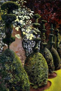 Clipped Yews - Stanley Spencer