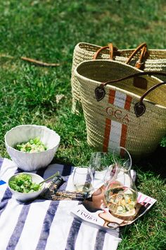Picnic in the Park + DIY Idea: Striped Blanket + Pillows with Shutterfly! Grace…