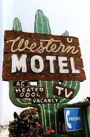 Western Motel pinned with Bazaart