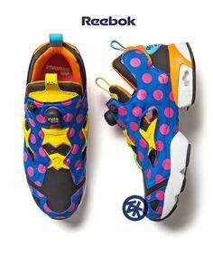 [Japan Limited] Reebok x atmos x Jun Watanabe (available in July 2013)     Pre-order now!  #reebok #pumpfury #pump #atmos #japan #sneakers #junwatanabe #streetart #polkadot #design #shop #buy