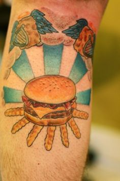 Burger tattoo