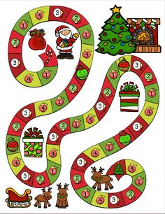 Christmas Sight Word Dash from Freeman's Frolicking Froggies Christmas Arts And Crafts, Christmas Math, Christmas Activities For Kids, Noel Christmas, Christmas Projects, Christmas Crafts, Christmas Board Games, Saint Nicolas, Theme Noel
