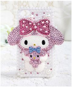 Unique 3D Bling case, Super Lovely Pink Rabbit with Bowknot case, Crystal case for iphone5 iphone4S iphone4