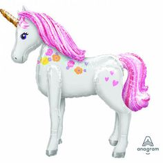 Bring your dream party to life with our selection of quality Magical Unicorn Airwalker Balloons. Unicorn Birthday Decorations, Unicorn Centerpiece, Unicorn Themed Birthday, 10th Birthday, Birthday Ideas, Unicorn Pinata, Rainbow Unicorn Party, Unicorn Balloon, Jumbo Balloons