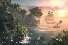 (pin 3) De plek waar het meeste van het verhaal zich afspeelt is de Caribische zee hier zijn veel piraten en dus ook veel piratenjagers. Al helemaal in Nassau dat was een piraten republiek: een wond in het vlees van de Engelse koning. Daarom ging hij daar ook wat aan doen.