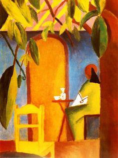 August Macke 1887-1914, Turkish cafe ll, 1914
