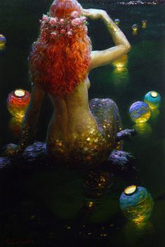 Mermaid with Lanterns- Victor Nizovtseu