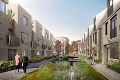 Planning permission has been given for market housing at the billion North West Cambridge development, including a landscape strategy by Robert Myers Social Housing Architecture, Brick Architecture, Residential Architecture, Landscape Architecture, Green Street, Urban Village, Residential Complex, Urban Planning, Urban Landscape