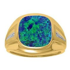 Cool Gold rings with diamonds Diamond and Australian Opal Men's Large Ring In Yellow Gold Gemologica.com offer... Check more at http://24store.ml/fashion/gold-rings-with-diamonds-diamond-and-australian-opal-mens-large-ring-in-yellow-gold-gemologica-com-offer/