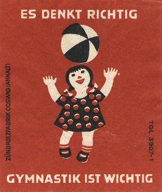 east german matchbox label