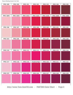 Scarlet Color Chart | pantone color chart pms ink color matching services are free