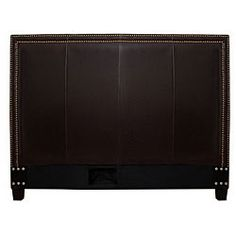 @Overstock - Complete your bedroom decor with this queen-size leather headboard. This headboard features luxurious leather constructions with steel nailhead accents.http://www.overstock.com/Home-Garden/Victoria-Dark-Brown-Leather-Queen-size-Headboard/5047459/product.html?CID=214117 $278.99