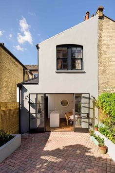 Bethnal Green House - Traditional - Exterior - london - by Brian O'Tuama Architects House Extension Plans, House Extension Design, House Design, Extension Ideas, Side Extension, External French Doors, House Extensions, Kitchen Extensions, Victorian Terrace