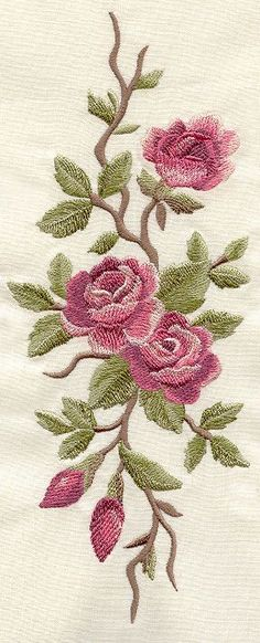 Wonderful Ribbon Embroidery Flowers by Hand Ideas. Enchanting Ribbon Embroidery Flowers by Hand Ideas. Embroidery Needles, Machine Embroidery Patterns, Silk Ribbon Embroidery, Crewel Embroidery, Vintage Embroidery, Embroidered Roses, Embroidery On Denim, Embroidered Quilts, Flower Embroidery Designs