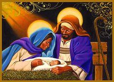 BLACK CHRISTIAN ARTWORK for christmas | Nativity: African American Christmas Card