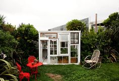 dream greenhouse.  old windows
