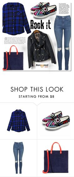 """Banggood #30"" by cherry-bh ❤ liked on Polyvore featuring Topshop, Clare V. and BangGood"