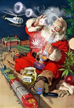 """Sending Smoke Signals for a Super Weed, Stoner Art, Christmas In July, Green Trees, Ganja, Christmas Pictures, Go Green, Cannabis, Mary Janes"