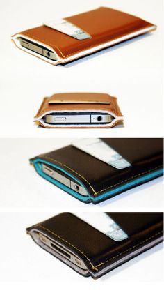leather  iphone case with pocket