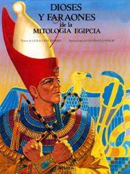 Deuses e faraóns da mitoloxía exipcia.