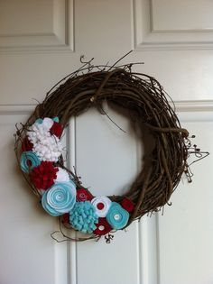 12in grapevine wreath. So simple and precious and not over the top at all.
