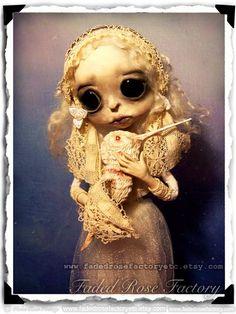 Gothic Art Doll OOAK Creepy Cute by FadedRoseFactoryEtc on Etsy