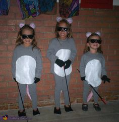 Three Blind Mice Homemade Costume Idea for Kids