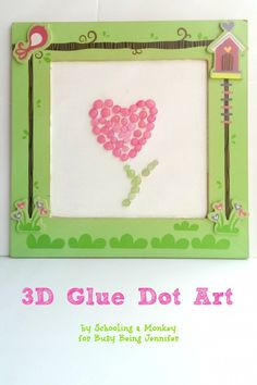 Want to make a simple and easy art project? These DIY 3D Colored Glue Dots will make any project pop!