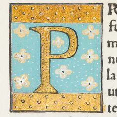 """Scriptores historiae Augustae. Milan: Philippus de Lavagnia, 1475. Detail from page of text (L4v) with decorated initial """"P"""". Sp Coll Hunterian Ds.2.6."""