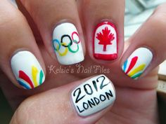 Kelsie's Nail Files: Olympic Nail Art - Team Canada!